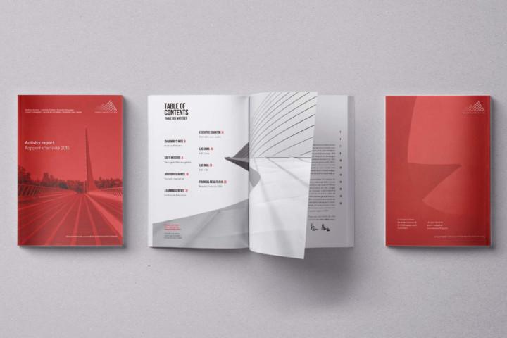 Rapport d'activité, brochure, flyer – Lausanne Hospitality Consulting