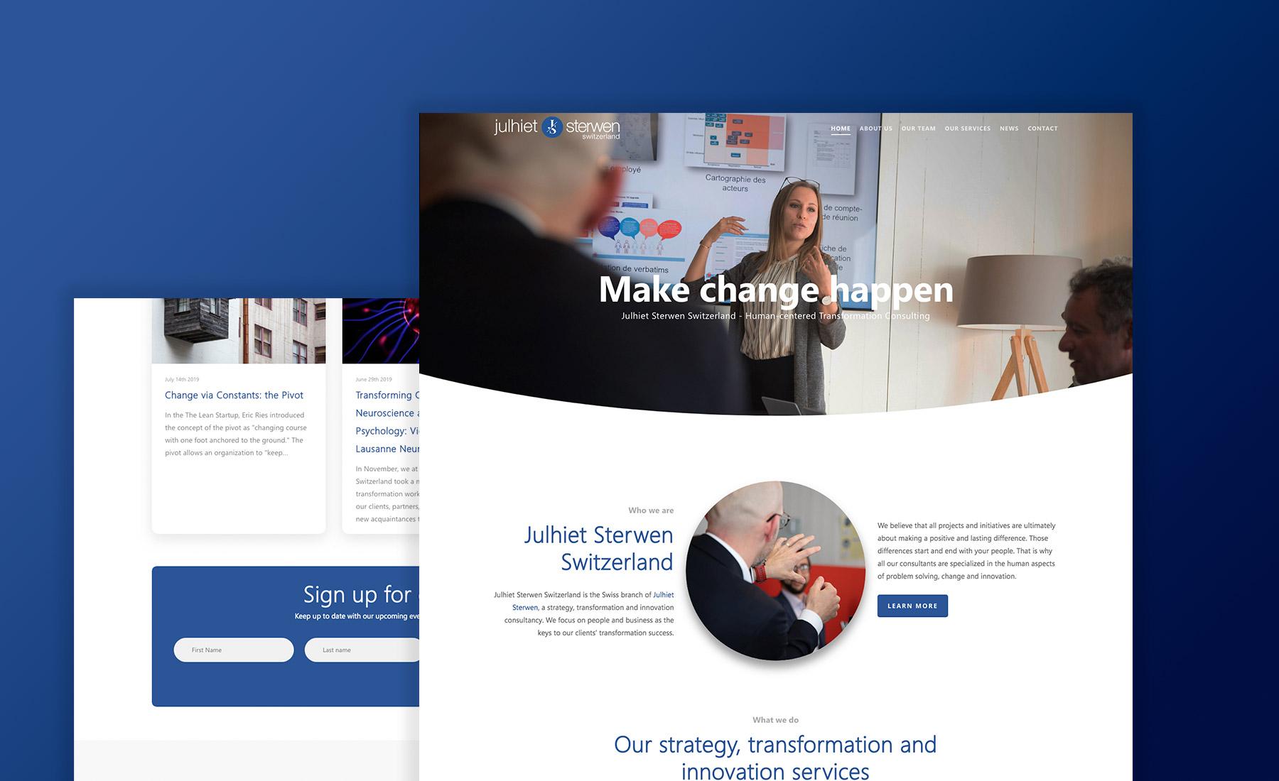 Mockup de site web de Julhiet Sterwen