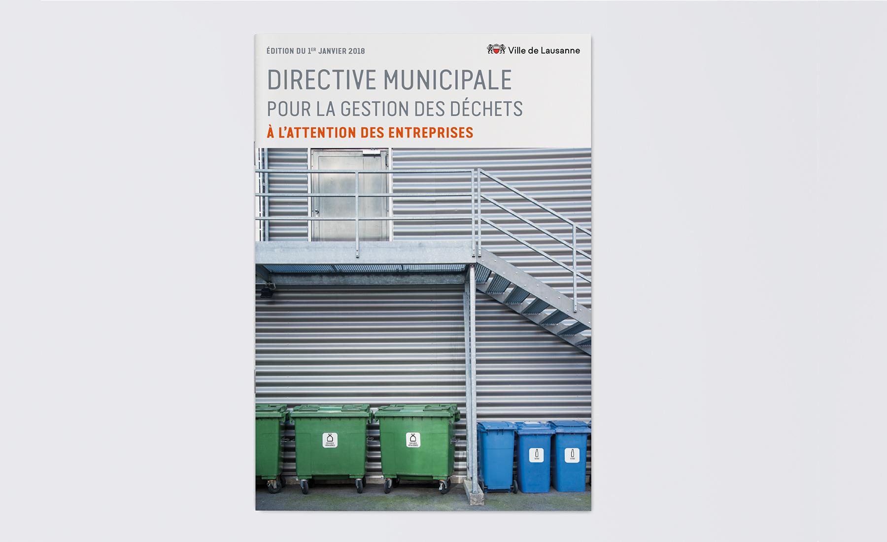 Image de couverture de la brochure des directives municipales de Lausanne