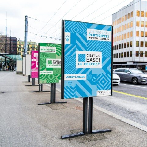 """Campagne de communication """"C'est la base"""" – Ville de Lausanne"""