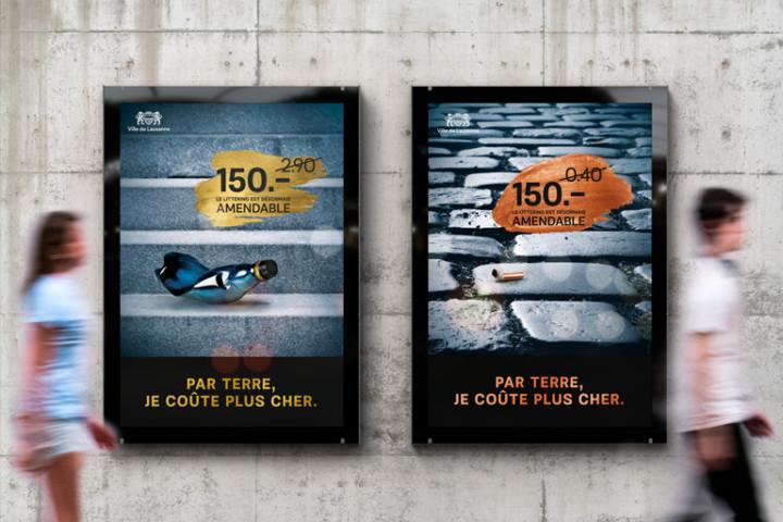 Campagne d'affichage 2018 – Ville de Lausanne