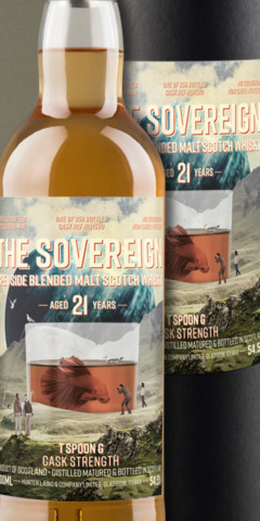 Etiquettes de Whisky The Sovereign surréalistes – Qwine