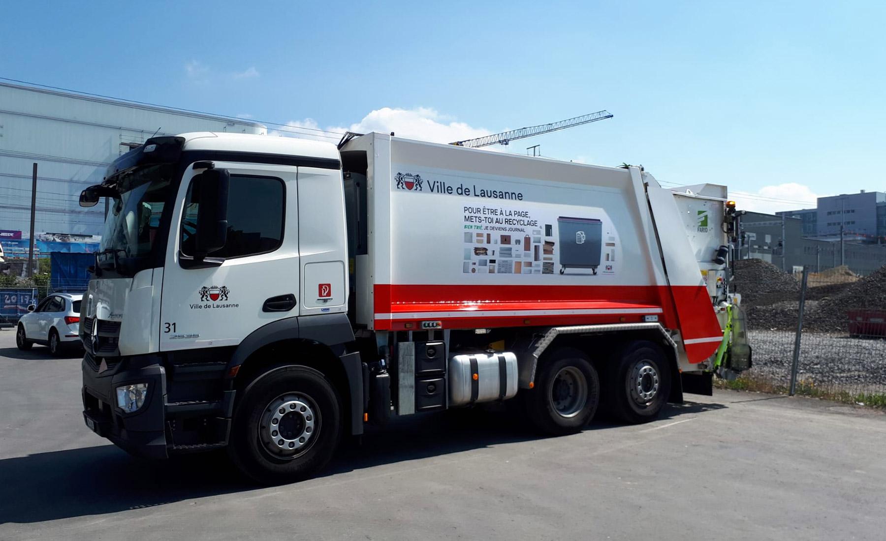 Camion poubelle de Lausanne 2019