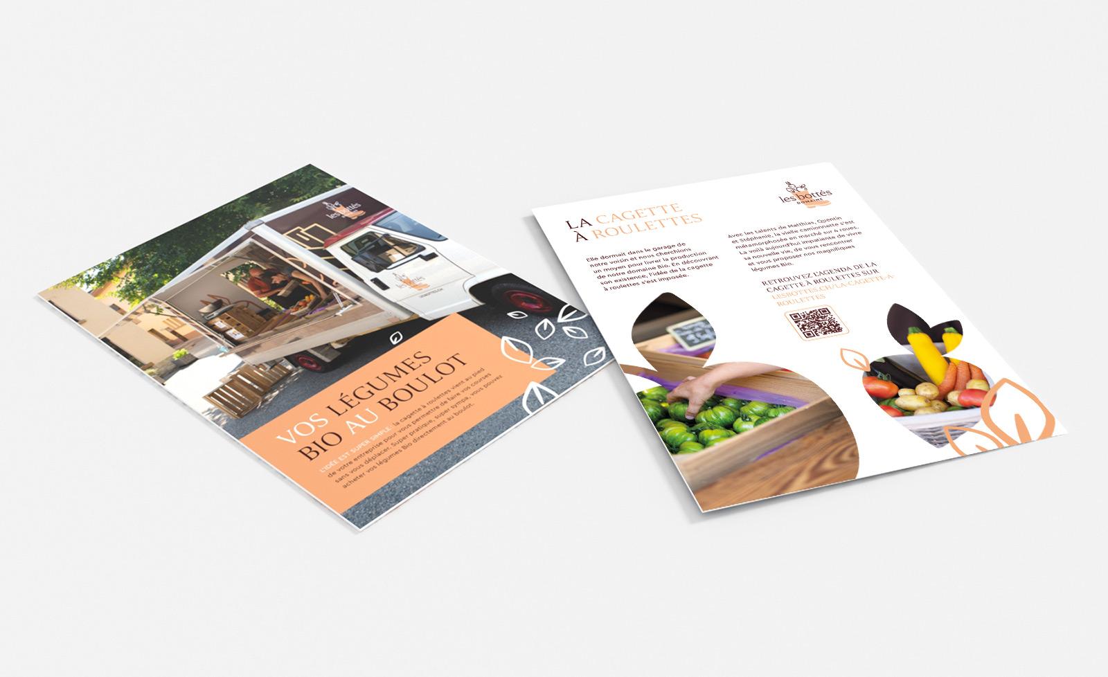 Flyer graphique de Hybride Design pour Les Bottés
