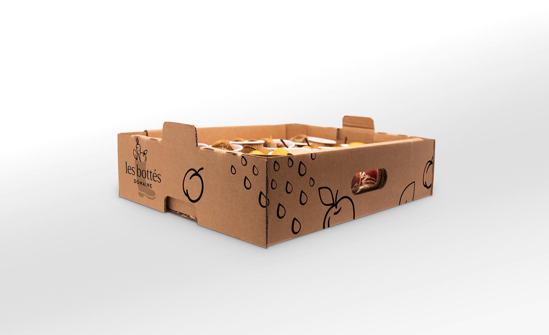 Habillage graphique de panier de légumes pour Les Bottés de Hybride Design - premium