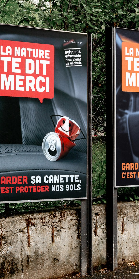 Campagne d'affichage sur le littering – Cosedec