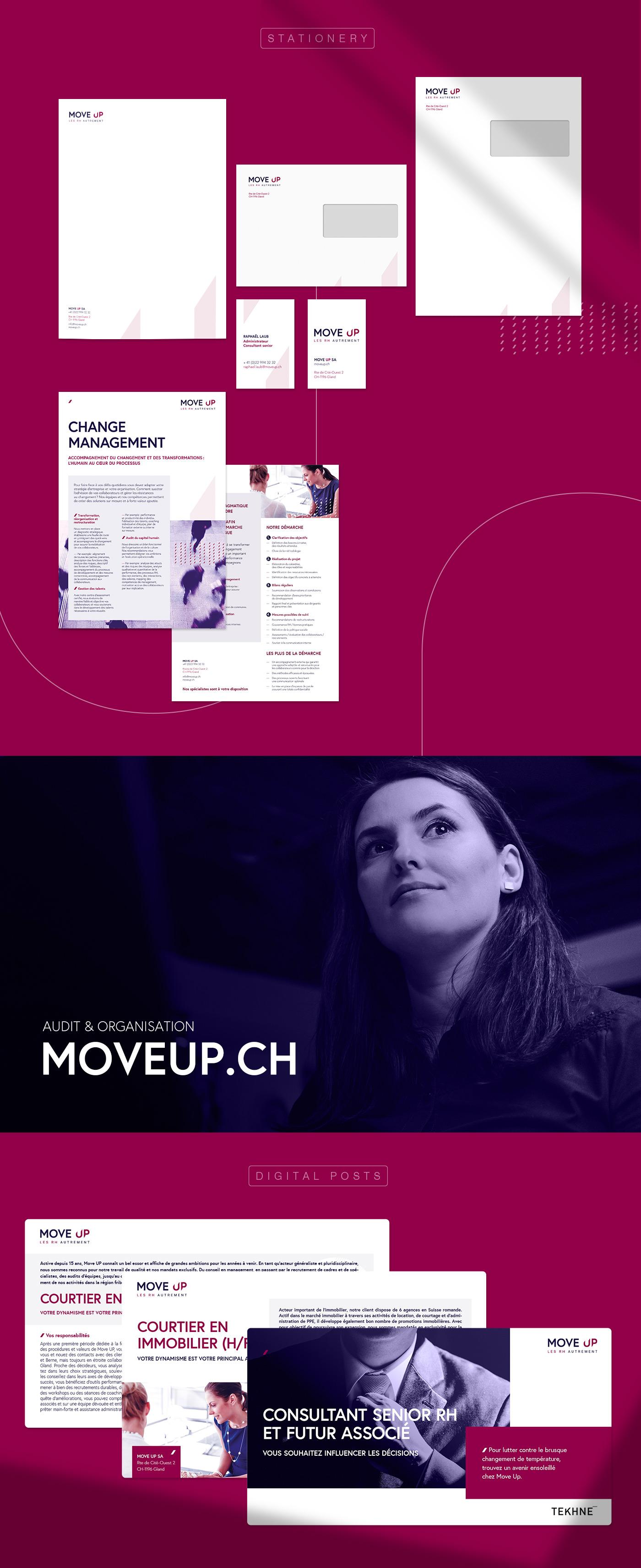 Papeterie graphique de Move Up