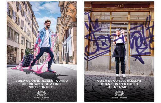 Campagne d'affichage F4 pour la Ville de Lausanne.